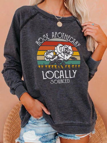 Rose Apothecary Locally Sourced Raglan Sleeve Sweatshirt