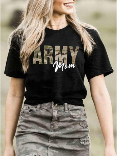 Camouflage Army Mom T-Shirt