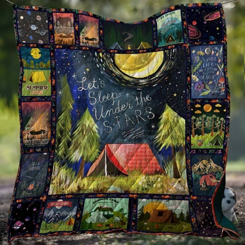 Wild Camping Blanket Quilt