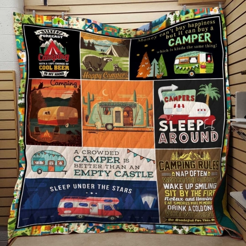 Sleep Around Campers Blanket Quilt