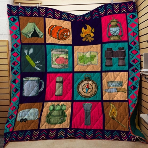 Camping Tools Blanket Quilt