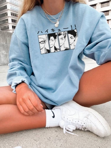 Anime Friends Unisex Printed Sweatshirt